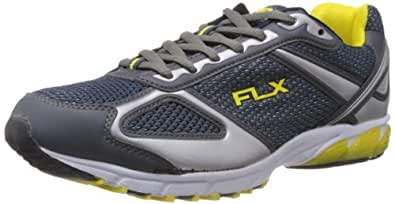 FLX Men's Zoom Lander White, Blue and Yellow Running Shoes - 7 UK (RZ1102)
