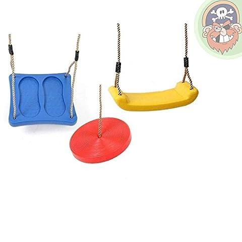 Set de 3 sièges de balançoire en plastique de Gartenpirat®