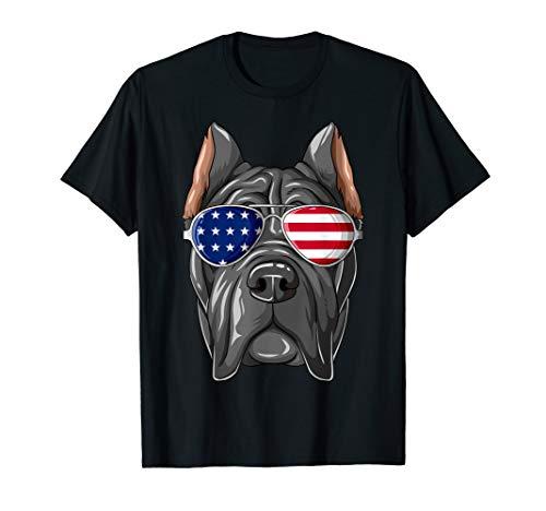 Cane Corso Patriot Sonnenbrille mit US-Flagge Cane Corso T-Shirt