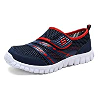 KVbaby Kids Mesh Sports Sneakers Ultralight Outdoor Running Shoes Water Shoes for Girls Boys (Toddler/Little Kid/Big Kid) Deep Blue(Size: 2 UK)