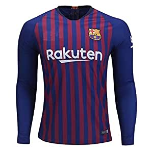 more photos 4f579 afb90 aaDDa Barcelona Home Full Sleeve Jersey with Shorts 2018-2019