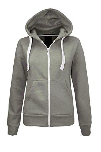 CEXI COUTURE Damen Kapuzen Sweatshirt Kapuzenpullover mit Reißverschluss Fleece Jacke - EU 38, Schwarz - Couture Blazer