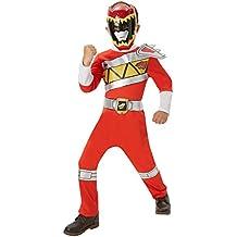 Disfraz oficial de Power Rangers Dino Charge rojo para niños entre 3y 4 años Rubie's.