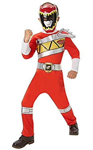 Saban - I-620062S - Déguisement Classique Power Rangers Rouge Dino Charge - Taille S