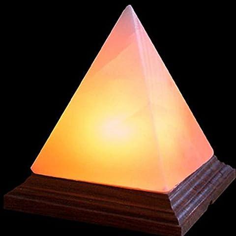 Indus Classic Himalayan Natural Ionic Crystal Rock Salt Lamps Pyramid Shape   Get Free Bulb Cord 125g Food Gourmet Pink Salt by Indus Classic
