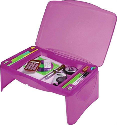 Rose enfants Portable pliant Lap Desk Plateau de stockage de table pour ordinateur portable école Home