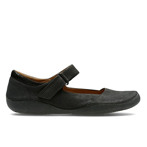 Clarks Damen Autumn Stone Geschlossene Sandalen mit Keilabsatz Schwarz