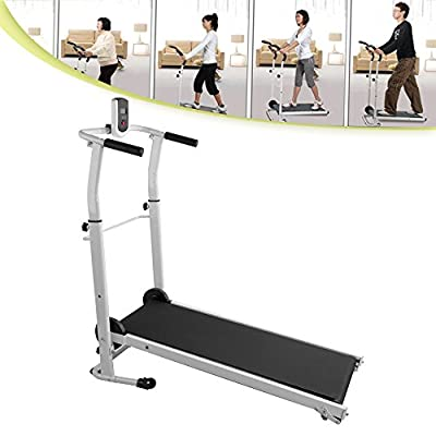 Panana 2017 Folding Mini Mechanical Fitness Running Machine Treadmill Exercise Incline by Panana