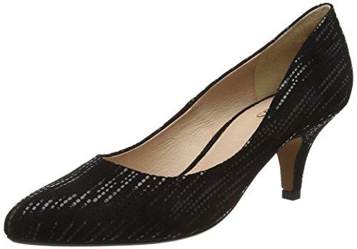 LotusDandelion - Scarpe con Tacco donna , Nero (Black (Blk Leather)), 38