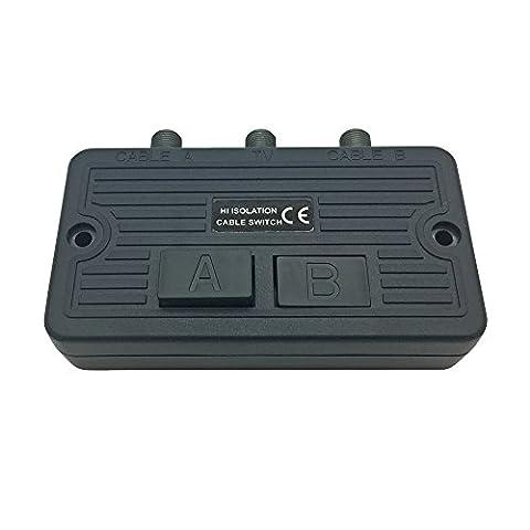 Antennen Umschalter für BK und Sat Anlagen Kabel UKW Schalter Verteiler Weiche (Sat Anlage Verteiler)