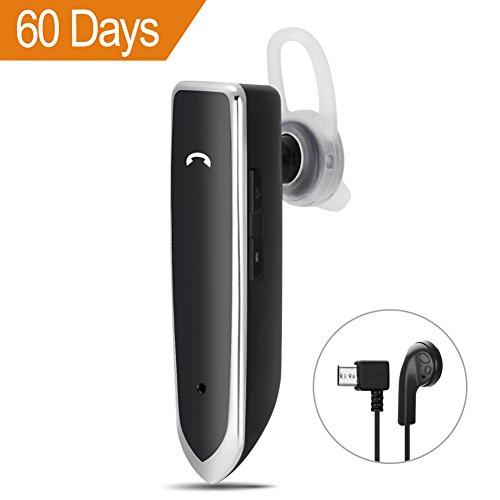PowerBlue Wireless Bluetooth Headset, Bluetooth Kopfhörer mit Mikrofon für Smartphones, Freisprecheinrichtung für Sicherheit Fahren und Business