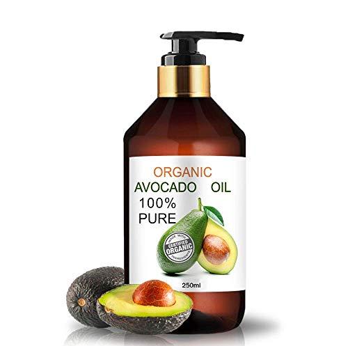Aceite Ecológico de Aguacate 250 ml Comercio Justo 100% Natural Prensado en Frío Aceite de Masaje Vegetal 100% Natural