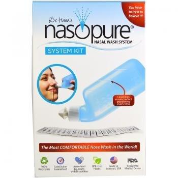 DR HANA'S NASOPURE Die € Œnicer Neti Pota € | Nasenspülflüssigkeit Für Allergie-Relief und Nasalkongestion Relief | System Kit -