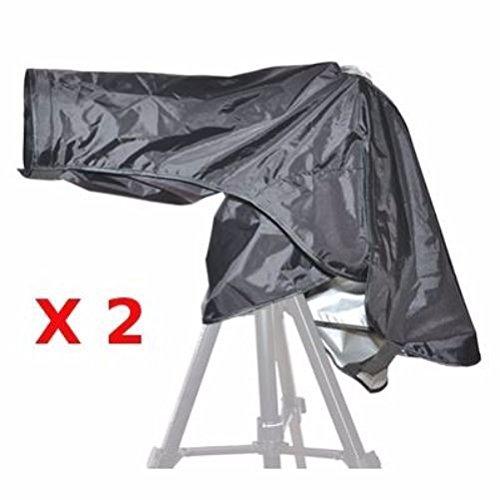 2x JJC Regenschutzhülle RI-9 für Canon und Nikon* DSLR mit Teleobjektiv (Regencover, Regenschutz, Schutzhülle)