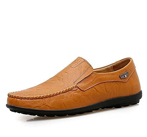 Männer Natürliche Leder Fahrschuhe Flache Schuhe Lackleder Niedrige Ferse Nähen