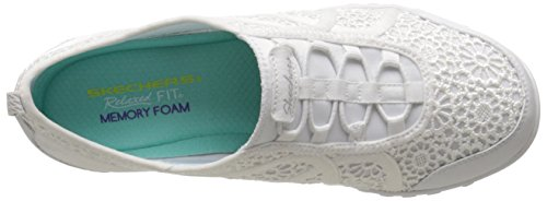 Skechers Breathe-easy meadows, Baskets Basses femme Blanc - Blanc (wht)