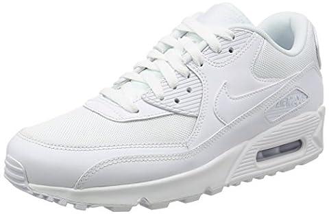 Nike Air Max 90 Essential, Herren Sneakers, Weiß (White/white-white-white), 43 EU (8.5 Herren UK)