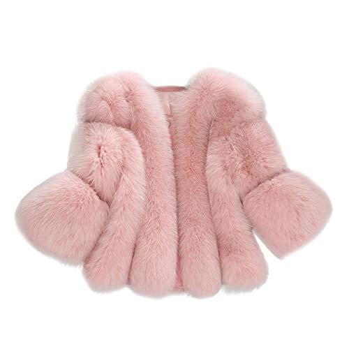 Vicgrey ❤ cappotto di pelliccia, giacca scialle pelliccia sintetica donna casuale scialle elegante caldo cappotto invernale moda corto manica lunga cardigan maglione felpa autunno