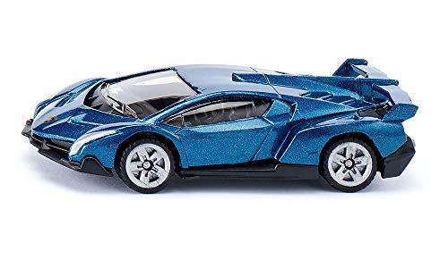 SIKU 1485, Lamborghini Veneno, Metal/Kunststoff, Spielzeugauto für Kinder, Dunkelgrau, Bereifung aus Gummi (Auto Lamborghini Modell)
