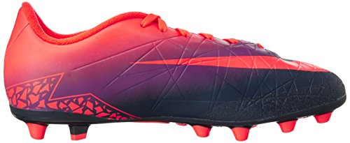 Nike 856460-845, Chaussures de Football Mixte Adulte Multicolore (Total Crimson/obsidian-vivid Purple)