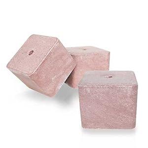 PALIGO Salzleckstein Mineralstein Salzlecke Viehsalz Großtier Kleintier Futter Salz Zusatz 10kg x 3 Steine 30kg / 1 Karton STROY®