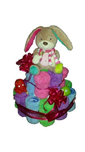 Handtuchtorte, Geburtstagstorte, perfekte Geschenkidee zur Geburt, Weihnachten, Geburtstag, Hochzeit oder anderen Feierlichkeiten, !!!! WÜNSCHE KÖNNEN GEÄUSSERT WERDEN !!!! Lieferung erfolgt bereits verpackt in einer Geschenkfolie