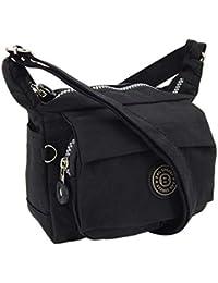 2149f43582001 ekavale Moderne und zugleich sportliche Damen-Handtasche Umhängetasche aus  hochwertigem wasserabwesendem Crinkle…