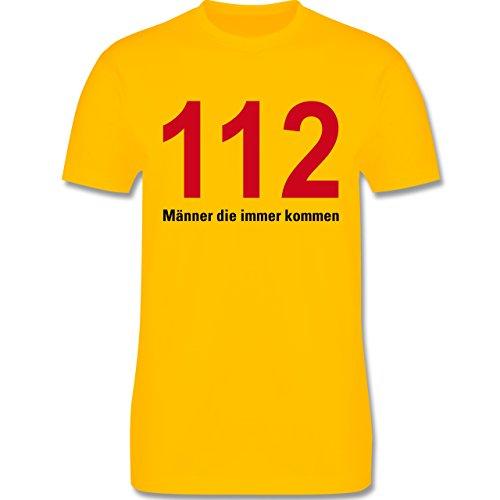 Feuerwehr - 112 - Männer die immer kommen - Herren Premium T-Shirt Gelb
