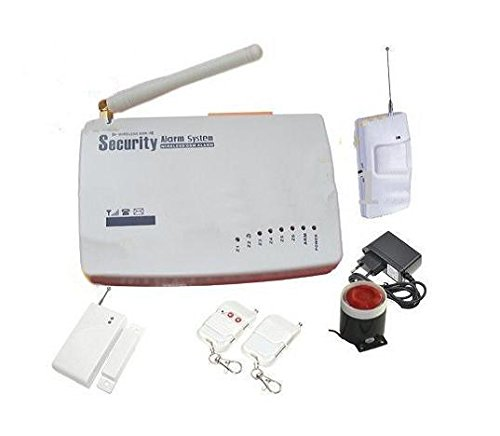 Kit Allarme Wireless Antifurto con Centralina Gsm sensori sirena e telecomandi