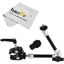haoge 11inch articular fricción brazo mágico con pequeño abrazadera cangrejo alicates clip para HDMI monitor LCD luz LED cámara de vídeo DSLR trípode
