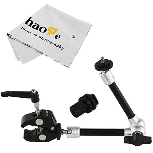 Haoge 27,9cm articolazione attrito Magic ARM con morsetto piccolo granchio pinza clip per HDMI monitor LCD LED light DSLR video treppiede