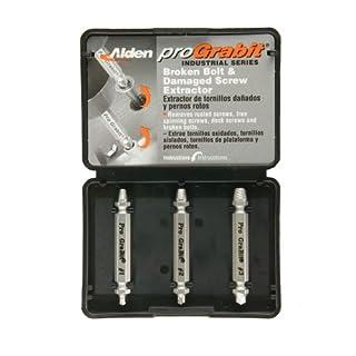 Alden 8430P Pro Grabit Broken Bolt and Damaged Screw Extractor 3 Piece Kit