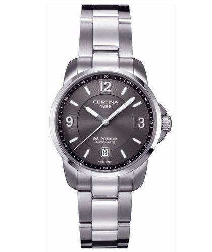 Certina C001.407.11.087.00 Montre analogique automatique pour homme avec bracelet cuir XL