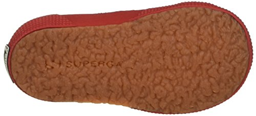 Superga 2750-dotssatinj, Sneakers basses fille Rosso (Red/Dots White)