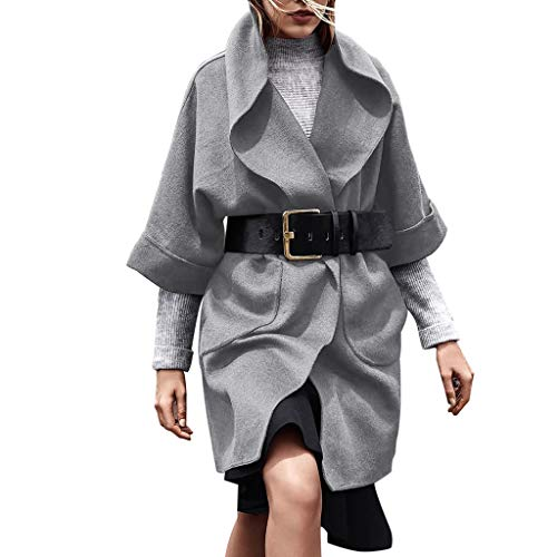 i-uend 2019 Damen Mantel - Damen Jacke Herbst Winter Elegant Frauen Mantel Lang Lässige Outwear Parka Einfarbig Cardigan Schlank Outwear für Winter/Herbst/Frühling
