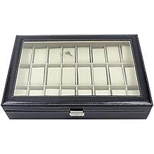 In pelle sintetica Orologio Display Box 24Griglie