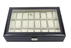 Idea Regalo - Scatola per disporre orologi con 24 scomparti, realizzata in similpelle