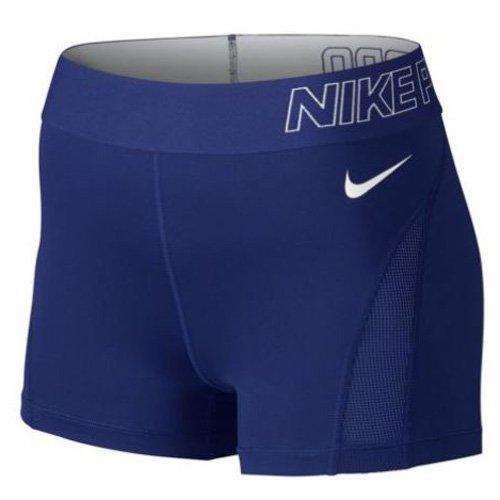 Nike Damen Shorts Pro Hypercool 3 Zoll, Deep Royal Blue/White, L, 776508-455