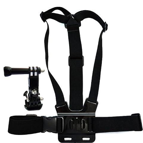 JMT OEM 3 voies ajustement Base monture + poitrine corps élastique réglable sangle bandoulière pour GoPro HD Hero 1 2 3