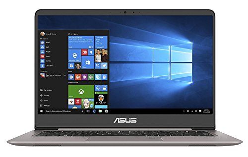 ASUS ZenBook UX410UA-GV158T Z14-inch Full HD Nano Edge Screen Laptop (Quartz Grey) - (Intel Core i3-7100U, 4GB RAM, 128GB SSD, Windows 10, Bluetooth 4.1, Harman Kardon Speakers)