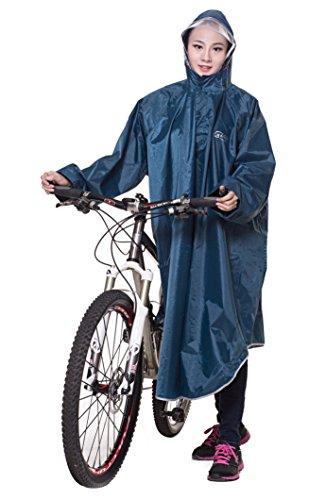 Ommda Bike Fahrrad Regenjacken Regenponcho Wasserdicht Regenmantel für Die Jagd Camping Freizeit Regenmäntel Regencape Cyan 3XL
