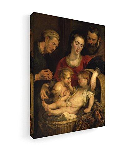 Peter Paul Rubens - Die Heilige Familie - 30x40 cm - Premium Leinwandbild auf Keilrahmen - Wand-Bild - Kunst, Gemälde, Foto, Bild auf Leinwand - Alte Meister/Museum