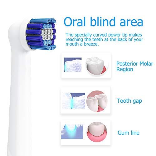 Recambios Cepillo Oral B Compatible,  QLEBAO 16 Cabezales para Oral B,  Pack de 16 Precision Clean EB20,  Cabezales de Cepillo de Dientes (16)