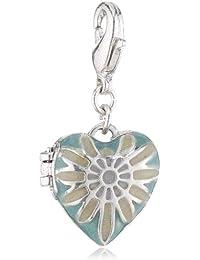 Pilgrim Jewelry Damen-Anhänger aus der Serie Charms versilbert türkis 3.0 cm 401316208