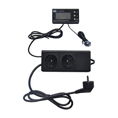 POPETPOP Digital-Temperaturregler-Aquarium-Thermostat für Aquarium-Reptil-Züchtungs-Hitze-Matte und Brauen (EU-Stecker) - Hitze Matte Thermostat