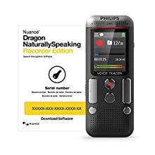 Philips DVT2710 Digital voice recorder (including voice recognition software, compact recording device, mp3 recorder, color display, 8 GB memory, USB port, plug & play, anthracite