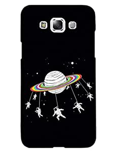 Astronaut - Merry Go Round - Travel To Space - Hard Back Case Cover for Samsung E7 - Superior Matte Finish - HD Printed Cases and Covers