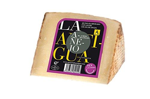 QUESERIA LA ANTIGUA DE FUENTESAUCO - Queso añejo SIN LACTOSA de leche cruda de oveja (2 x 400gr Aprox.)