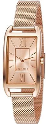 Esprit  ES107112008 - Reloj de cuarzo para mujer, con correa de acero inoxidable, color dorado