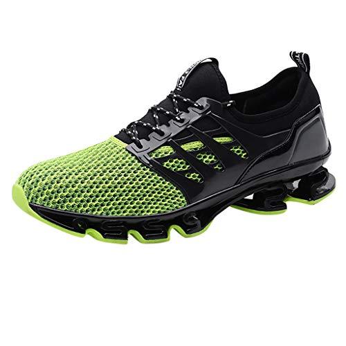 BHYDRY Lovers Outdoor Mesh Scarpe Traspirante Usura Wild Sneakers Scarpe(44 EU,Verde)